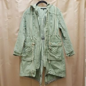 Marc Jacobs Hooded Distressed Military Jacket 2